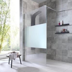 welltime Duschwand »Duschabtrennung«, Einscheibensicherheitsglas, Breite 120 cm, mit Dekor