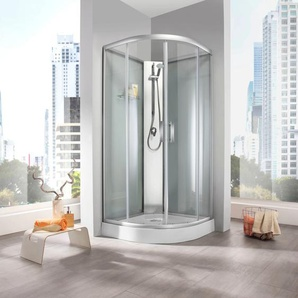 welltime Komplettdusche Rom, inkl. Handbrause und Glasablage B/H: 90 cm x 210 weiß Duschkabinen Duschen Bad Sanitär