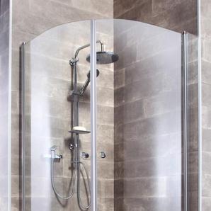 welltime Runddusche Florenz, mit Hebe-Senk-Mechanismus, barrierefrei einbaubar B/H: 90 cm x 190 silberfarben Duschkabinen Duschen Bad Sanitär Eckdusche