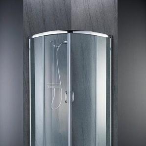welltime Runddusche »Summer«, BxT: 90x90 cm, Sicherheitsglas, hochwertige Duschabtrennung, leichtgängige Schiebetüren
