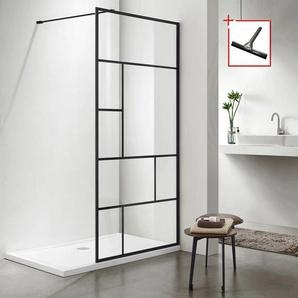 welltime Walk-in-Dusche Duschabtrennung, Breite 90 cm B/H: x 190 schwarz Duschwände Duschen Bad Sanitär