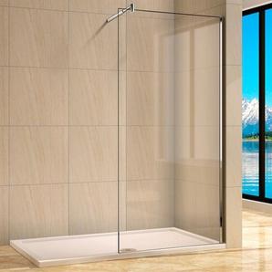 welltime Walk-in-Dusche Rom, Duschabtrennung erhältlich in 4 verschiedenen Breiten (80-120cm) B/H: 90 cm x 190 cm, beidseitig montierbar silberfarben Duschkabinen Duschen Bad Sanitär