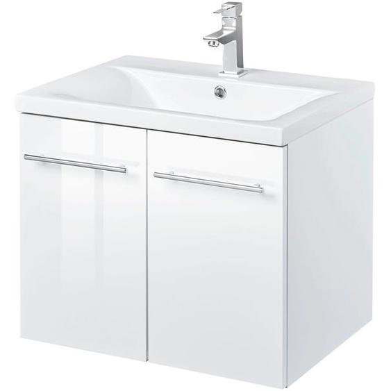 welltime Waschtisch Baja / Lugo, Badmöbel in Breite 60 cm x 50 weiß Waschtische