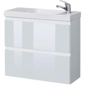 welltime Waschtisch Barcelona, Badmöbel mit reduzierter Tiefe, Breite 60 cm x 57 weiß Waschtische