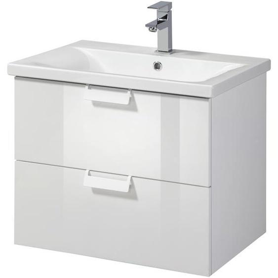 welltime Waschtisch Italy, Breite 61 cm 58.8 x 50 weiß Waschtische Badmöbel