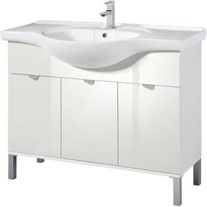 welltime Waschtisch Malmö 84 cm x 105 weiß Waschtische Badmöbel