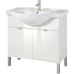 welltime Waschtisch Malmö 85 cm weiß Waschtische Badmöbel