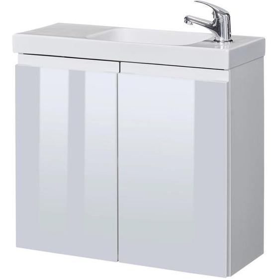welltime Waschtisch Merida, reduzierte Tiefe, Breite 60 cm x 57 weiß Waschtische Badmöbel