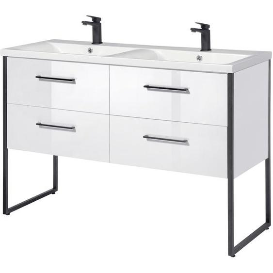 welltime Waschtisch Paris, Premium Badmöbel in Breite 120 cm 88 x weiß Waschtische