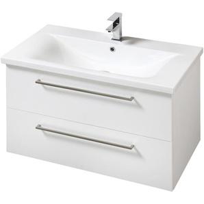 welltime Waschtisch Torino, Badmöbel in Breite 80 cm x 59 weiß Waschtische