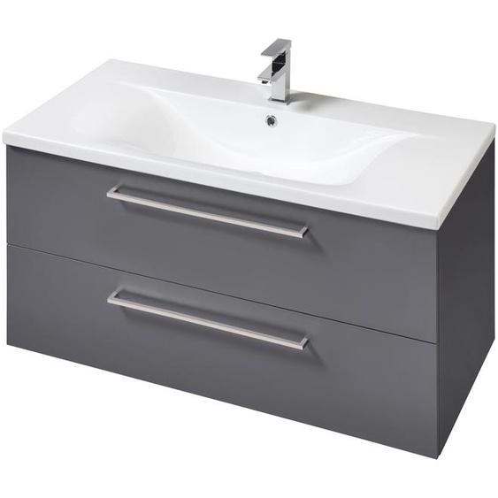 welltime Waschtisch Torino, Breite 100 cm x 59 grau Waschtische Badmöbel