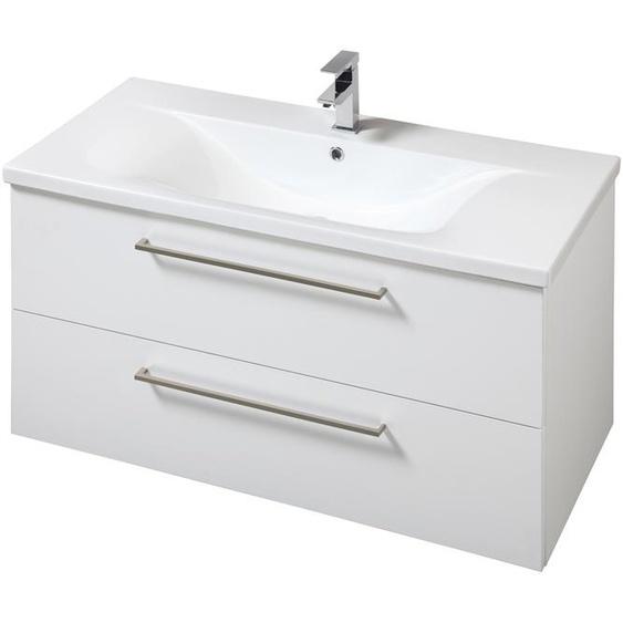 welltime Waschtisch Torino, Breite 100 cm x 59 weiß Waschtische Badmöbel