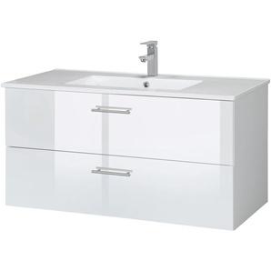 welltime Waschtisch Trento, Badmöbel in Breite 100 cm x 52 weiß Waschtische
