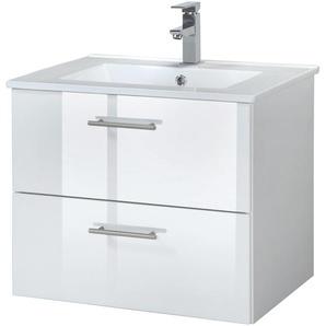 welltime Waschtisch Trento, Badmöbel in Breite 60 cm x 52 weiß Waschtische