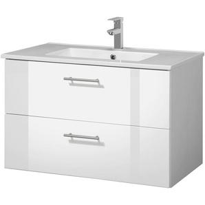 welltime Waschtisch Trento, Badmöbel in Breite 80 cm x 51.5 weiß Waschtische