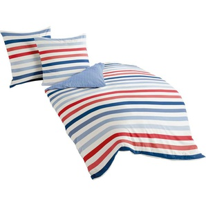 Wendebettwäsche »Marine Stripes«, BIERBAUM, mit Streifen