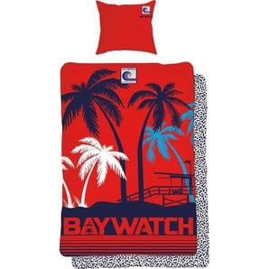 Bettwäsche »Tropical«, Baywatch, mit Strand Motiv