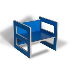 Wendehocker blau Kind farbig bunt Holz Kinderhocker