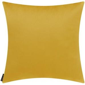 Wendekissen - gelb - 100% Federfüllung, Velour - 45 cm | Möbel Kraft