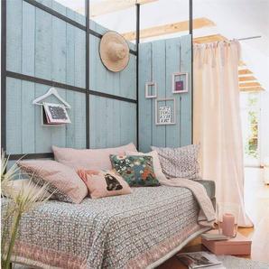 Wendequilt Handstempeldruck - bunt - 100 % Baumwolle - Tagesdecken & Quilts - Überwürfe & Sofaüberwürfe