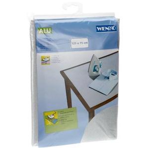 Wenko 1025111100 Tischbügeldecke Alu - extra stark, dampfbügelgeeignet, Baumwolle, 75 x 125 cm