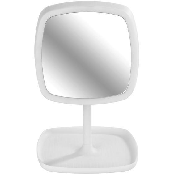 Wenko 2-in-1 LED-Kosmetikspiegel und Tischleuchte Ostia Weiß