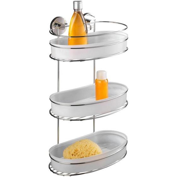 WENKO Duschablage »Milazzo«, 3 Etagen, Vacuum-Loc Befestigen ohne bohren