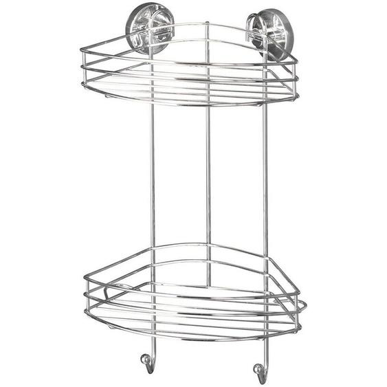 WENKO Duschablage »Vacuum-Loc 2 Etagen«, 2 Haken, Befestigen ohne bohren