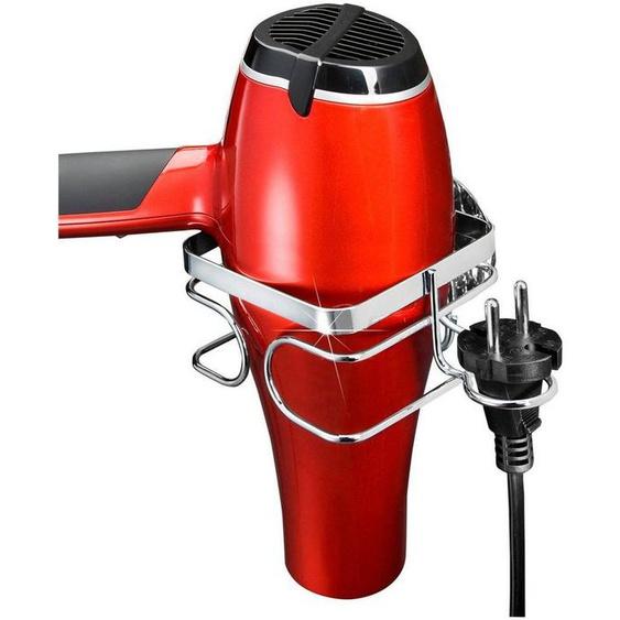 WENKO »TurboFIX Edelstahl« Haartrocknerhalter, (mit praktischem Steckerhalter)