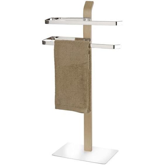Wenko Handtuchhalter Grau, Silber , Holz, Metall , 40.5x79.5x21.5 cm