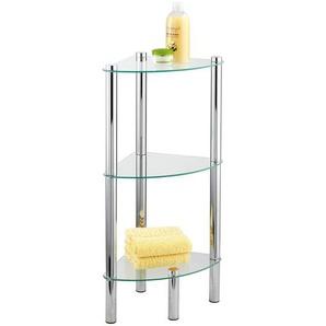 Wenko Haushalts- und Badeckregal Yago chrom mit 3 Glasplatten