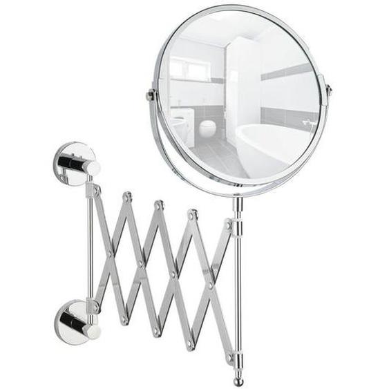 Wenko Kosmetikspiegel »Elegance«, mit Teleskop-Arm, Power-Loc®-Klebesystem, aus Stahl