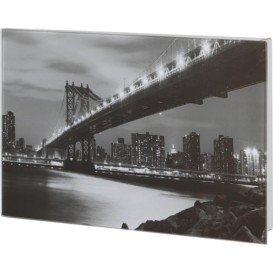 Wenko Schlüsselkasten Manhattan Bridge magnetisch Edelstahl 300 mm x 200 mm