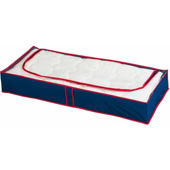WENKO Unterbettkommode Blau-Rot, (Set, 8 St.), (atmungsaktiv) 100x45x15 cm blau Aufbewahrung Ordnung SOFORT LIEFEERBAR Diele Flur Aufbewahrungsboxen