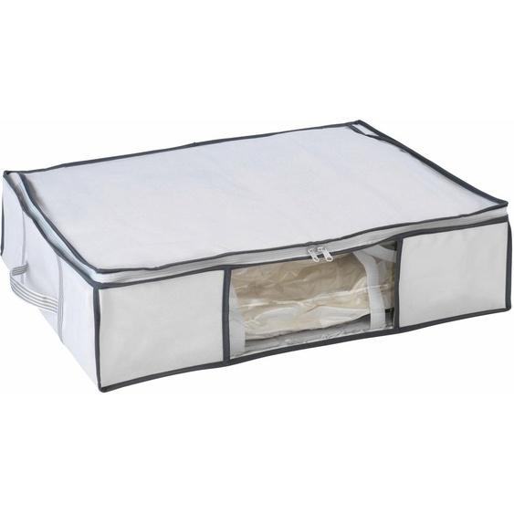 WENKO Unterbettkommode, mit Vakuum-Tasche B/H/T: 65 cm x 15 50 farblos Körbe Boxen Regal- Ordnungssysteme Küche Ordnung Unterbettkommode