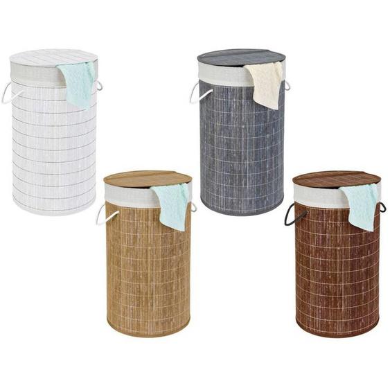 Wenko Wäschetruhe »Bamboo«, 55 l Fassungsvermögen, mit Baumwoll-Wäschesack, aus Bambus