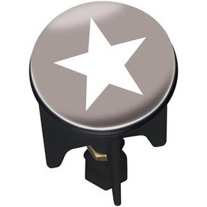 Wenko 22873100 Waschbeckenstöpsel Pluggy Stella - Abfluss-Stopfen, für alle handelsüblichen Abflüsse, Kunststoff, 3,9 x 6,5 x 3,9 cm, mehrfarbig