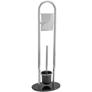 Wenko WC-Bürstengarnitur Atlanta mit Papierhalter Edelstahl