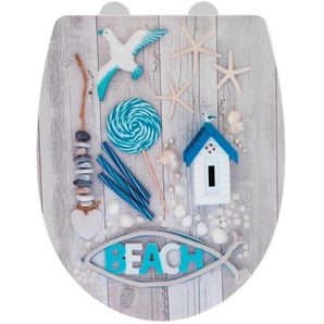 Wenko WC-Sitz Beach, Thermoplast, high gloss