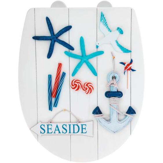 Wenko WC-Sitz Seaside, Thermoplast, high gloss