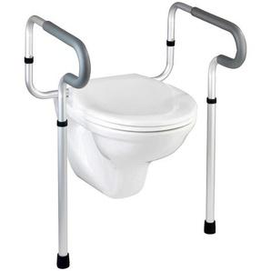 WC-Stützgriff Alufarben, Grau, Schwarz