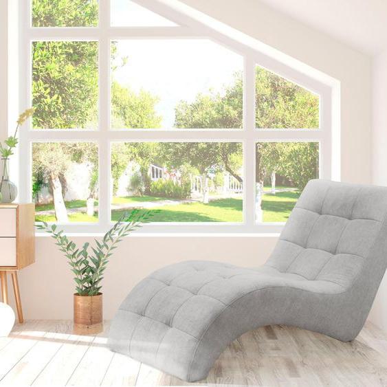 WERSAL Relaxliege Struktur weich, 77 cm grau Relaxliegen Sessel Sofas