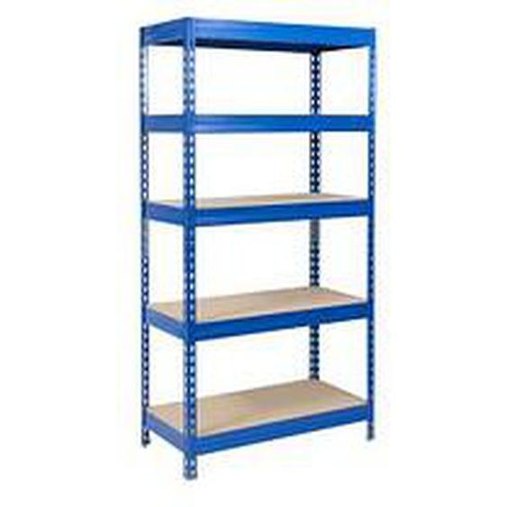 officemarshal® Schwerlastregal braun / blau