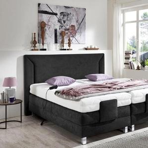 Westfalia Schlafkomfort Motor-Boxspringbett, 7-Zonen-Kaltschaummatratze, schwarz, 90x200 cm