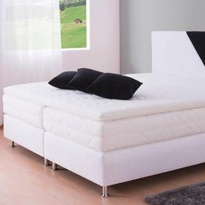 Westfalia Schlafkomfort Boxspringbett, weiß, Liegefläche 140/200 cm