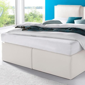 Westfalia Schlafkomfort Boxspringbett, 7-Zonen-Kaltschaummatratze, weiß, 180/200 cm