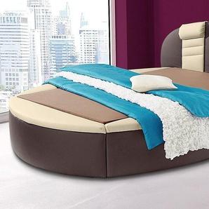Westfalia Schlafkomfort Rund-Bett, Bonnell-Federkernmatratze, beige