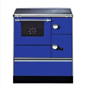 WESTMINSTER Festbrennstoffherd »K 176«, Stahl blau, 5 kW, Dauerband, Herdplatte& Backofen