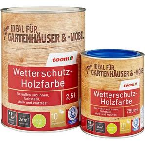 Wetterschutz-Holzfarbe seidenmatt weiß 5 l