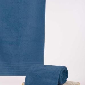 Wewo fashion Saunatuch AIDA, (1 St.), Bestickung SAUNA B/L: 80 cm x 200 St.) blau Handtücher Badetücher
